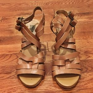 Steve Madden Strappy Brown Heels